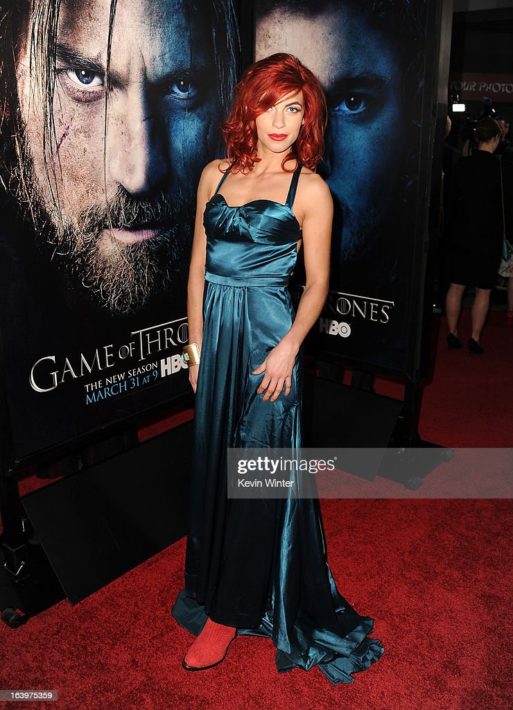 Actress Natalia Tena arrives at the premiere of HBO's 'Game Of Thrones' Season 3 at TCL Chinese Theatre on March 18, 2013 in Hollywood, California.
