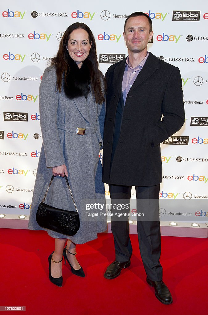Actress Natalia Woerner and Martin Tschopp, general manager of Ebay Germany attend the Ebay Pop-Up Store opening at Oranienburger Strasse on December 6, 2012 in Berlin, Germany.