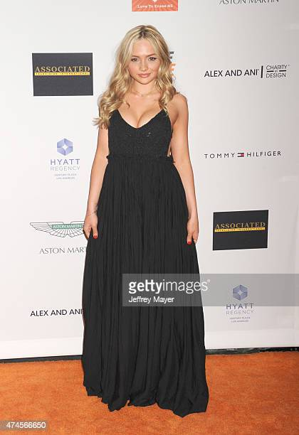 Actress Natalie Alyn Lind arrives at the 22nd Annual Race To Erase MS at the Hyatt Regency Century Plaza on April 24 2015 in Century City California