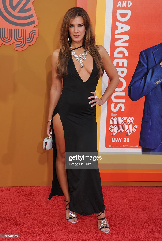 Actress Natalie Burn arrives at the premiere of Warner Bros. Pictures' 'The Nice Guys' at TCL Chinese Theatre on May 10, 2016 in Hollywood, California.