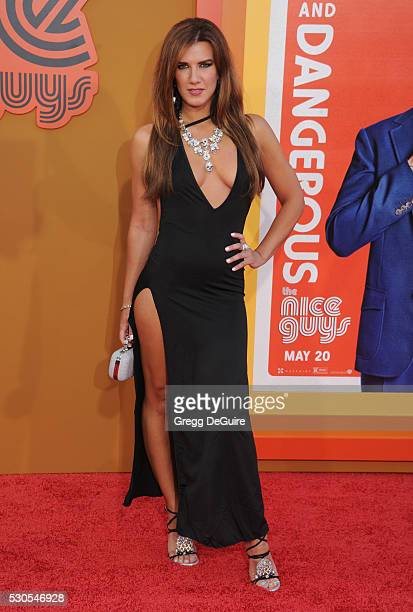 Actress Natalie Burn arrives at the premiere of Warner Bros Pictures' 'The Nice Guys' at TCL Chinese Theatre on May 10 2016 in Hollywood California