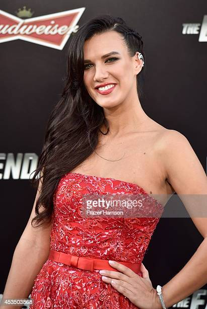 Actress Natalie Burn attends Lionsgate Films' 'The Expendables 3' premiere at TCL Chinese Theatre on August 11 2014 in Hollywood California