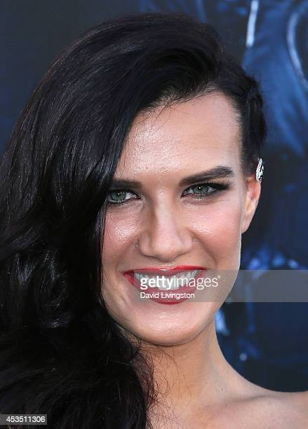 Actress Natalie Burn attends the premiere of Lionsgate Films' 'The Expendables 3' at the TCL Chinese Theatre on August 11 2014 in Hollywood California