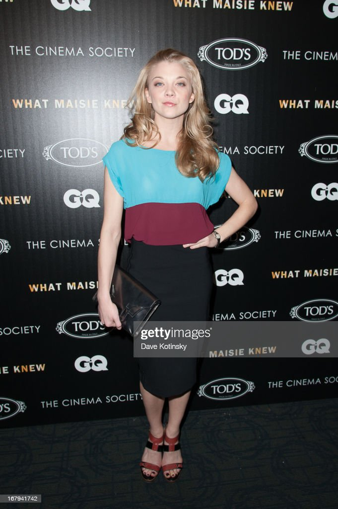 Actress Natalie Dorme attends a screening hosted by The Cinema Society With Tod's & GQ of Millennium Entertainment's 'What Maisie Knew' presented by The Cinema Society at Sunshine Landmark on May 2, 2013 in New York City.