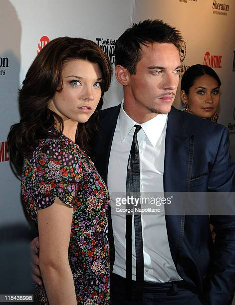 Actress Natalie Dormer and actor Jonathan Rhys Meyers arrive for the World Premiere party for season 2 of the Showtime original series 'The Tudors'...