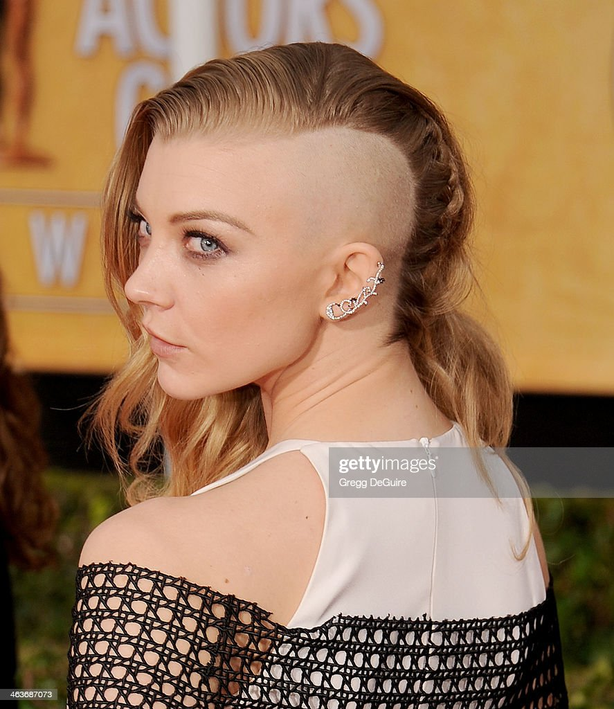 Actress <a gi-track='captionPersonalityLinkClicked' href=/galleries/search?phrase=Natalie+Dormer&family=editorial&specificpeople=817757 ng-click='$event.stopPropagation()'>Natalie Dormer</a> arrives at the 20th Annual Screen Actors Guild Awards at The Shrine Auditorium on January 18, 2014 in Los Angeles, California.