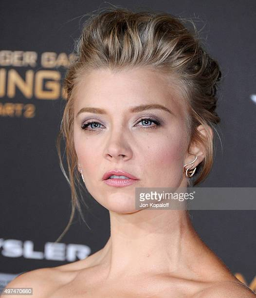 Actress Natalie Dormer arrives at the Los Angeles Premiere Of Lionsgate's 'The Hunger Games Mockingjay Part 2' at Microsoft Theater on November 16...