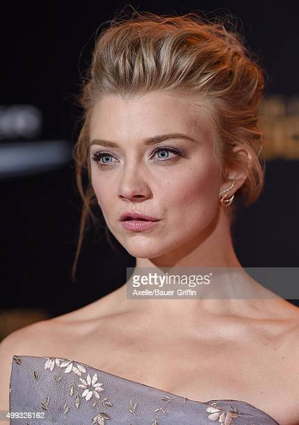 Actress Natalie Dormer arrives at the premiere of Lionsgate's 'The Hunger Games Mockingjay Part 2' at Microsoft Theater on November 16 2015 in Los...