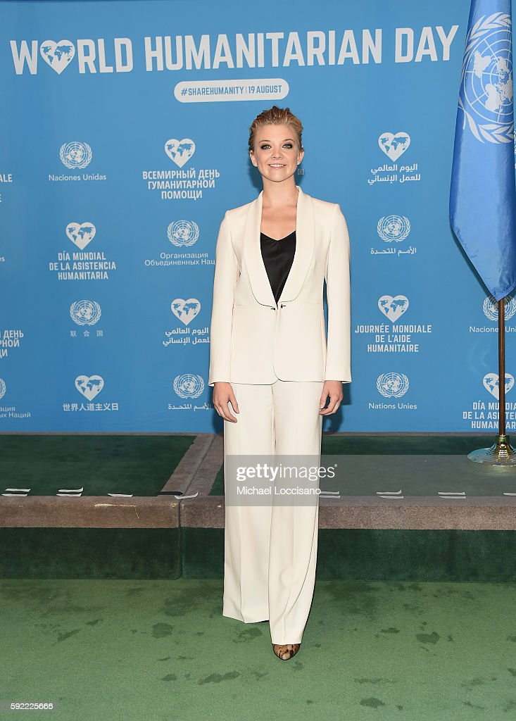 Actress Natalie Dormer attends 2016 World Humanitarian Day: One Humanity Event at the United Nations on August 19, 2016 in New York City.