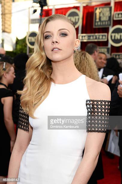 Actress Natalie Dormer attends 20th Annual Screen Actors Guild Awards at The Shrine Auditorium on January 18 2014 in Los Angeles California