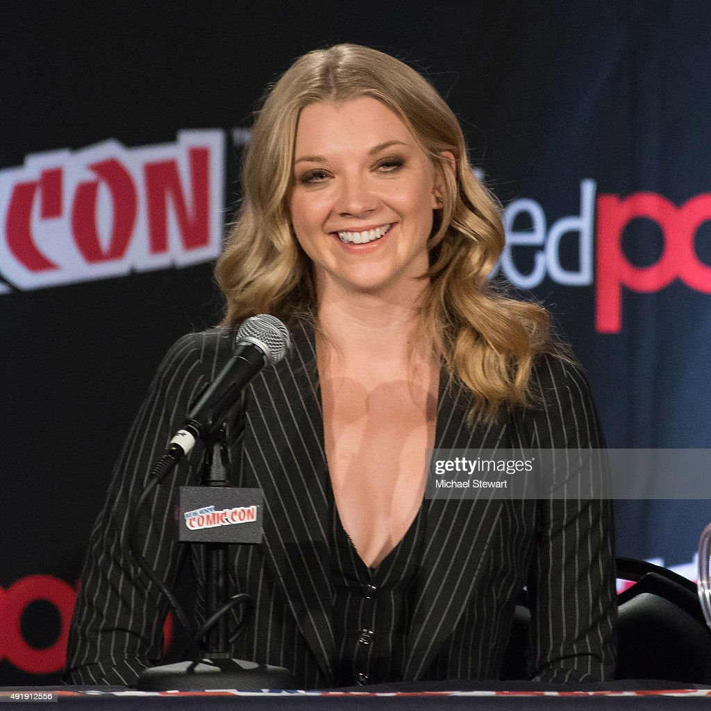 Actress Natalie Dormer attends Game of Thrones: A Panel of Ice and Fire during New York Comic-Con Day 1 at The Jacob K. Javits Convention Center on October 8, 2015 in New York City.