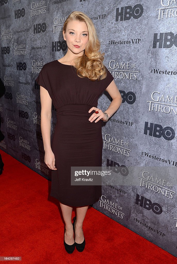 Actress Natalie Dormer attends HBO's 'Game Of Thrones' Season 3 Seattle Premiere on March 21, 2013 in Seattle, Washington.