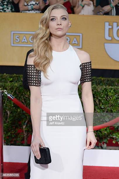 Actress Natalie Dormer attends the 20th Annual Screen Actors Guild Awards at The Shrine Auditorium on January 18 2014 in Los Angeles California