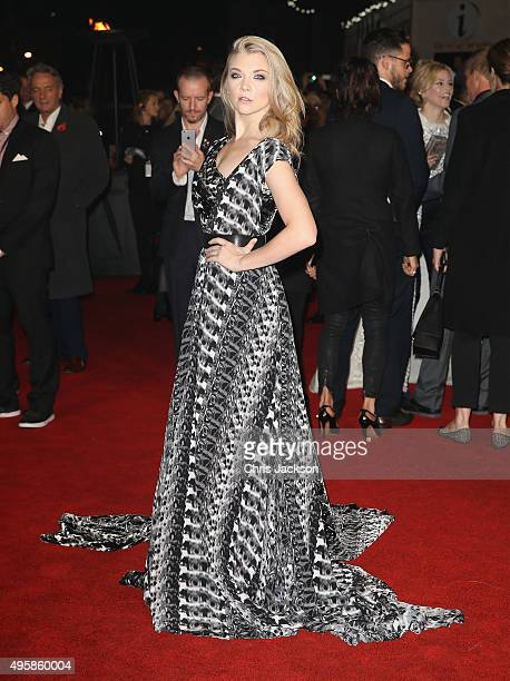 Actress Natalie Dormer attends 'The Hunger Games Mockingjay Part 2' UK Premiere at the Odeon Leicester Square on November 5 2015 in London England