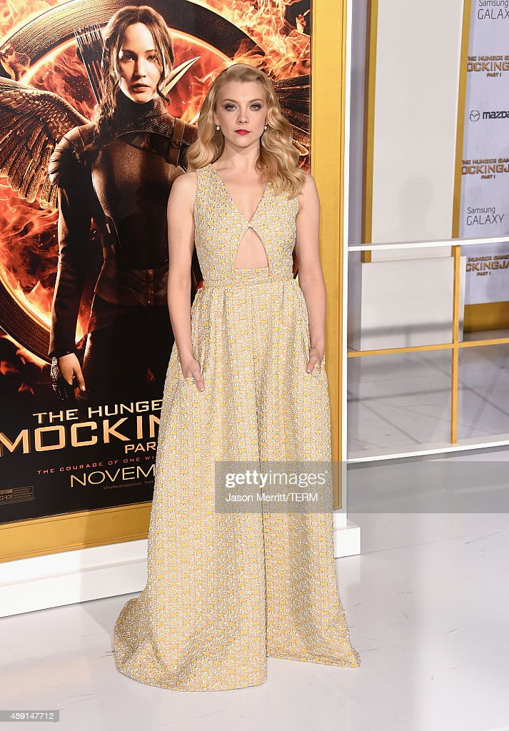 Actress <a gi-track='captionPersonalityLinkClicked' href=/galleries/search?phrase=Natalie+Dormer&family=editorial&specificpeople=817757 ng-click='$event.stopPropagation()'>Natalie Dormer</a> attends the Premiere of Lionsgate's 'The Hunger Games: Mockingjay - Part 1' at Nokia Theatre L.A. Live on November 17, 2014 in Los Angeles, California.