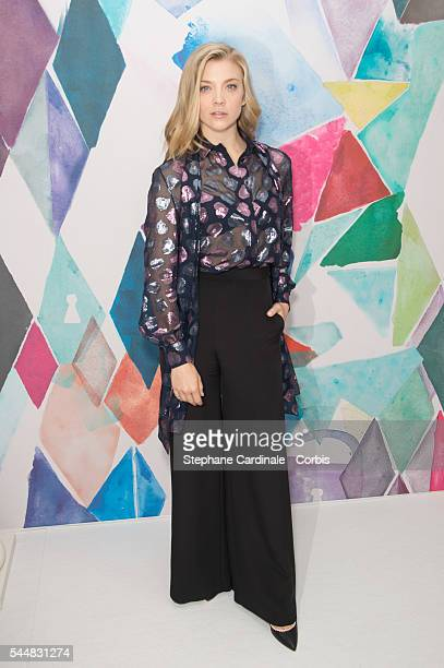 Actress Natalie Dormer attends the Schiaparelli Haute Couture Fall/Winter 20162017 show as part of Paris Fashion Week on July 4 2016 in Paris France