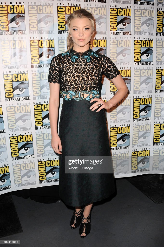 Actress <a gi-track='captionPersonalityLinkClicked' href=/galleries/search?phrase=Natalie+Dormer&family=editorial&specificpeople=817757 ng-click='$event.stopPropagation()'>Natalie Dormer</a> attends the Screen Gems panel for 'Patient Zero' and 'Pride and Prejudice and Zombies' during Comic-Con International 2015 at the San Diego Convention Center on July 11, 2015 in San Diego, California.