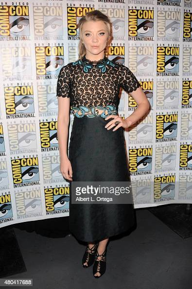 Actress Natalie Dormer attends the Screen Gems panel for 'Patient Zero' and 'Pride and Prejudice and Zombies' during ComicCon International 2015 at...