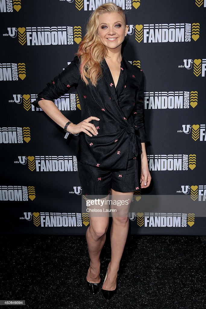 Actress <a gi-track='captionPersonalityLinkClicked' href=/galleries/search?phrase=Natalie+Dormer&family=editorial&specificpeople=817757 ng-click='$event.stopPropagation()'>Natalie Dormer</a> backstage at the mtvU Fandom Awards on July 24, 2014 in San Diego, California.