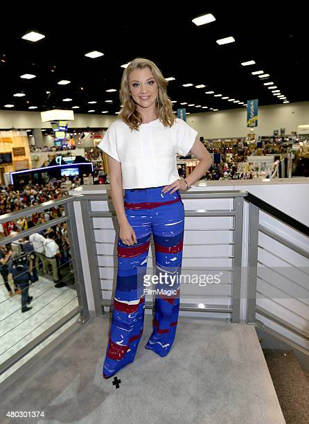 Actress Natalie Dormer poses at the 'Game Of Thrones' autograph signing during ComicCon International 2015 at the San Diego Convention Center on July...