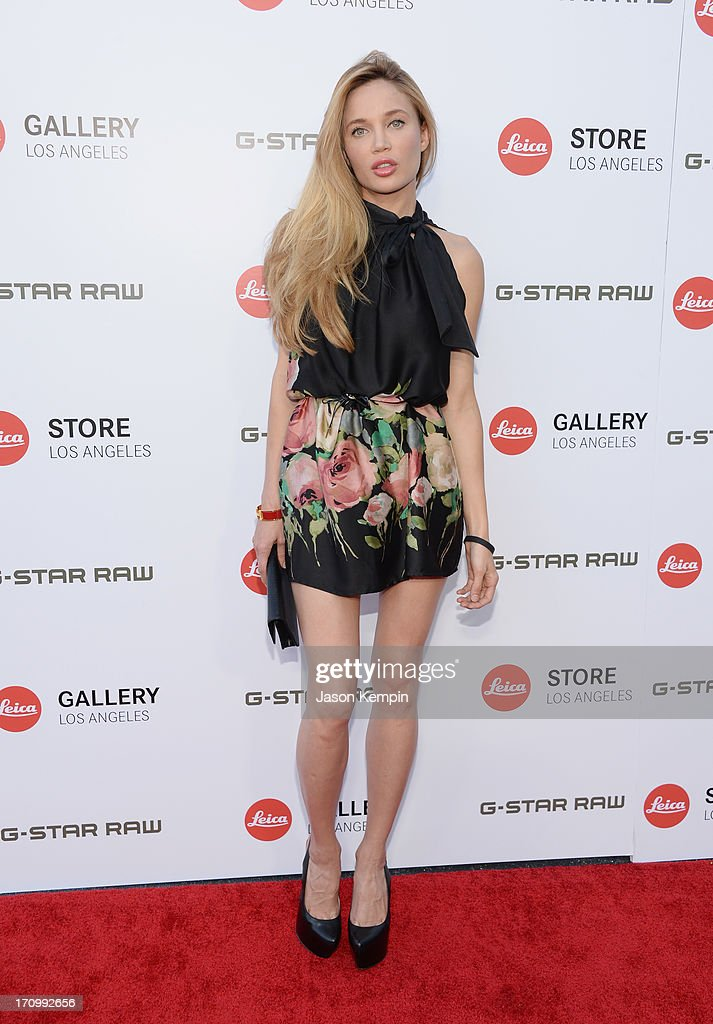 Actress Natalie Gal attends the Leica Store Los Angeles grand opening on June 20, 2013 in Los Angeles, California.