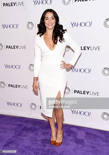 Actress Natalie Martinez arrives at The Paley Center for Media's An Evening With 'Kingdom' at The Paley Center for Media on October 19 2015 in...