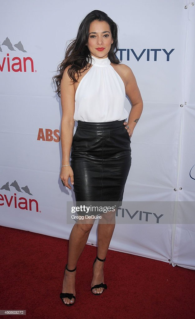 Actress <a gi-track='captionPersonalityLinkClicked' href=/galleries/search?phrase=Natalie+Martinez&family=editorial&specificpeople=653882 ng-click='$event.stopPropagation()'>Natalie Martinez</a> arrives at the Pathway To The Cures For Breast Cancer event at Barkar Hangar on June 11, 2014 in Santa Monica, California.