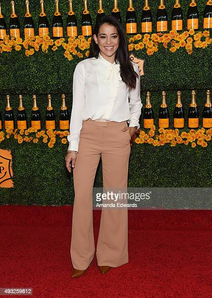 Actress Natalie Martinez arrives at the SixthAnnual Veuve Clicquot Polo Classic Los Angeles at Will Rogers State Historic Park on October 17 2015 in...