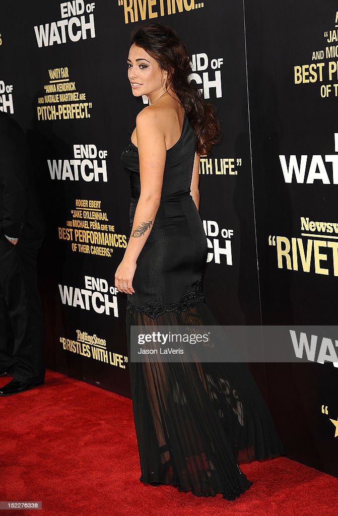 Actress Natalie Martinez attends the premiere of 'End of Watch' at Regal Cinemas L.A. Live on September 17, 2012 in Los Angeles, California.