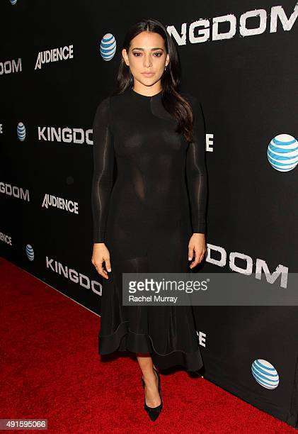 Actress Natalie Martinez celebrates the season premiere of DIRECTV's KINGDOM on October 6 2015 in West Hollywood California
