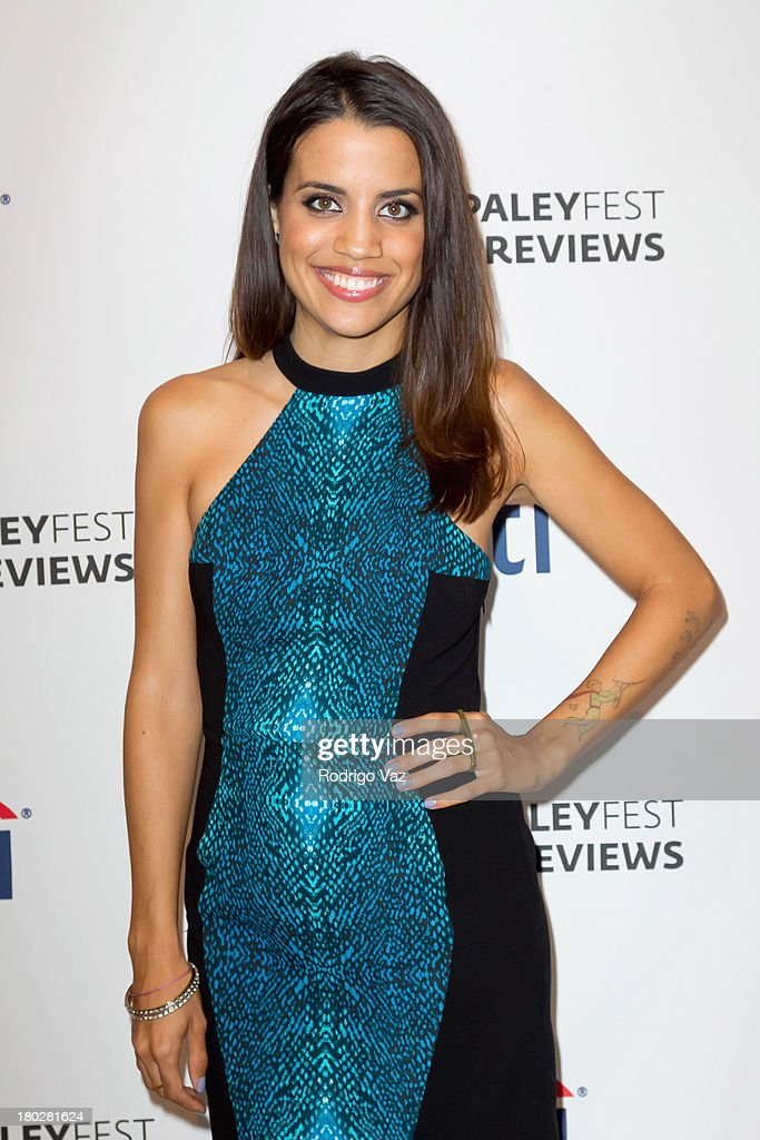 Actress <a gi-track='captionPersonalityLinkClicked' href=/galleries/search?phrase=Natalie+Morales+-+Actress&family=editorial&specificpeople=15326754 ng-click='$event.stopPropagation()'>Natalie Morales</a> arrives at PaleyFestPreviews Fall TV ABC's 'Trophy Wife' And 'Back In The Game' at The Paley Center for Media on September 10, 2013 in Beverly Hills, California.