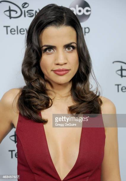 Actress Natalie Morales arrives at the ABC/Disney TCA Winter Press Tour party at The Langham Huntington Hotel and Spa on January 17 2014 in Pasadena...