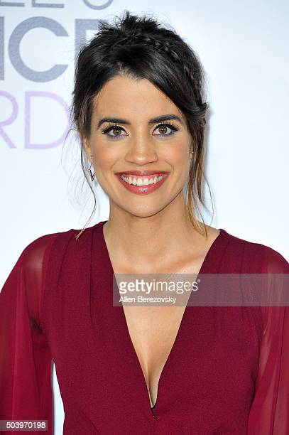 Actress Natalie Morales arrives at the People's Choice Awards 2016 at Microsoft Theater on January 6 2016 in Los Angeles California