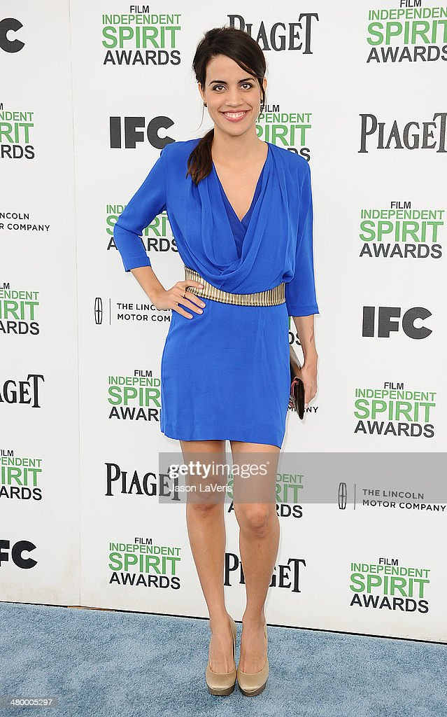 Actress Natalie Morales attends the 2014 Film Independent Spirit Awards on March 1 2014 in Santa Monica California