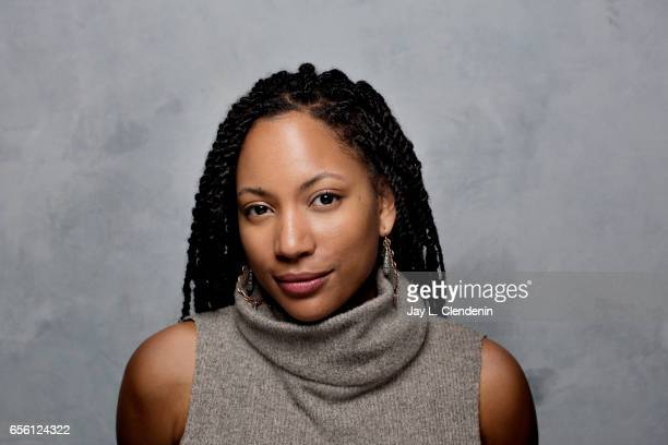 Actress Natalie Paul from the film Crown Heights is photographed at the 2017 Sundance Film Festival for Los Angeles Times on January 23 2017 in Park...