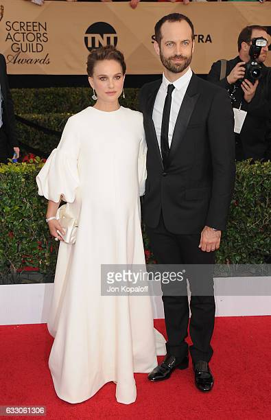 Actress Natalie Portman and Benjamin Millepied arrive at the 23rd Annual Screen Actors Guild Awards at The Shrine Expo Hall on January 29 2017 in Los...