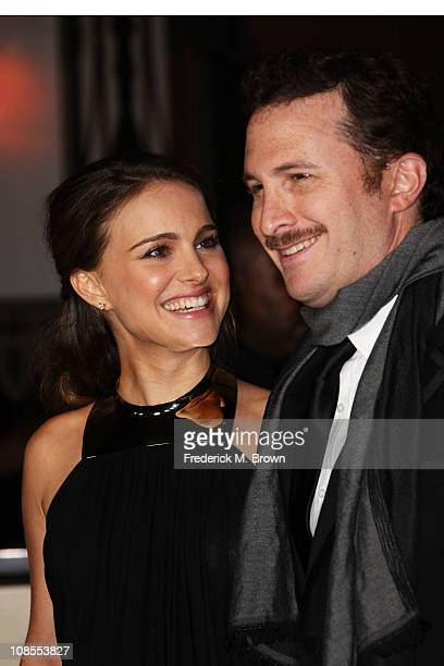 Actress Natalie Portman and director Darren Aronofsky arrive at the 63rd Annual Directors Guild Of America Awards held at the Grand Ballroom at...