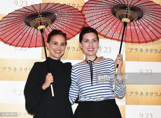 Actress Natalie Portman and director Rebecca Zlotowski attend the 'Planetarium' Japan Premiere at Shinjuku Wald9 on July 20 2017 in Tokyo Japan