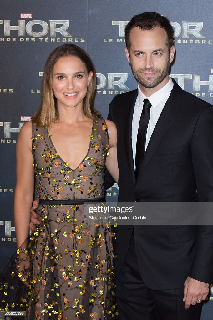 Actress Natalie Portman and her husband Benjamin Millepied attend 'Thor: The Dark World' Premiere at Le Grand Rex Cinema, in Paris.