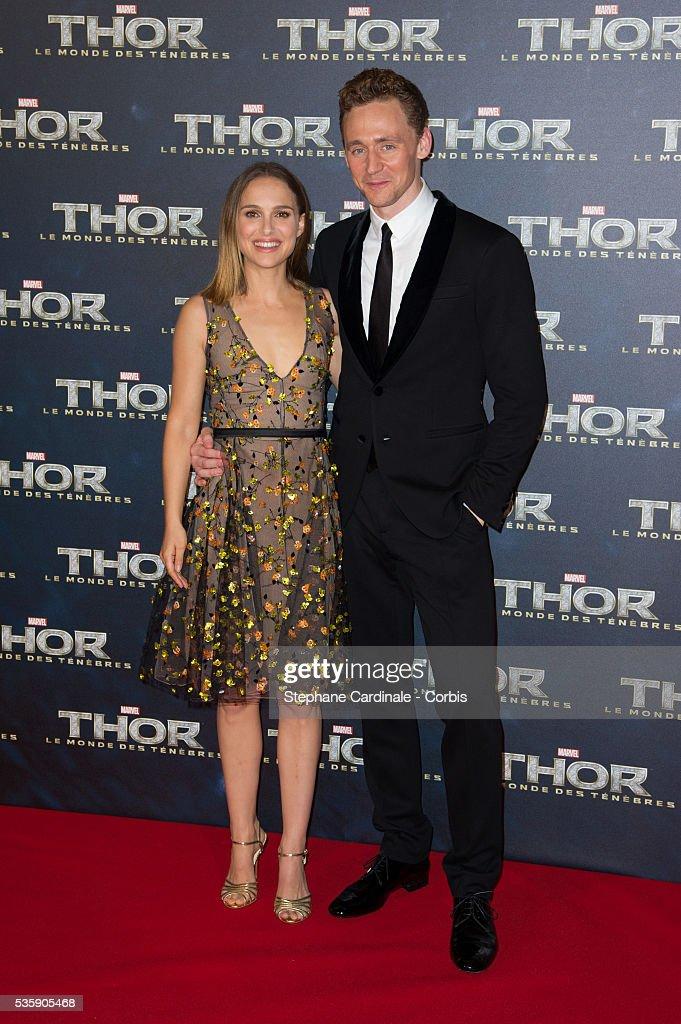 Actress Natalie Portman and Tom Hiddleston attend 'Thor: The Dark World' Premiere at Le Grand Rex Cinema, in Paris.