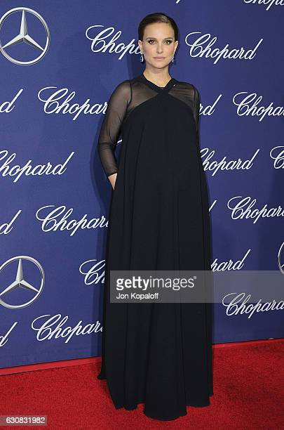 Actress Natalie Portman arrives at the 28th Annual Palm Springs International Film Festival Film Awards Gala at Palm Springs Convention Center on...