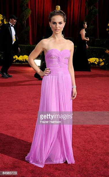 Actress Natalie Portman arrives at the 81st Annual Academy Awards held at Kodak Theatre on February 22 2009 in Los Angeles California