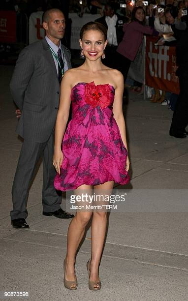 Actress Natalie Portman arrives at the 'Love And Other Possible Pursuits' screening during the 2009 Toronto International Film Festival held at Roy...