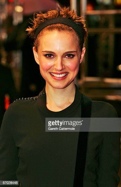 Actress Natalie Portman arrives at the UK Premiere of 'V For Vendetta' at the Empire Leicester Square on March 8 2006 in London England The film is...