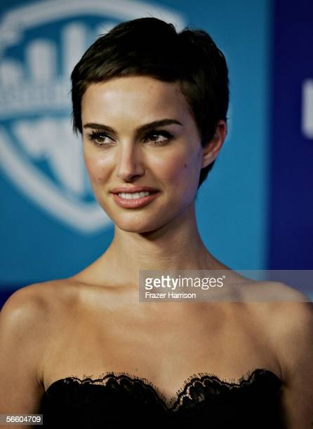 Actress Natalie Portman arrives at the Warner Bros/InStyle Golden Globe after party held at the Oasis at the Beverly Hilton on January 16 2006 in...