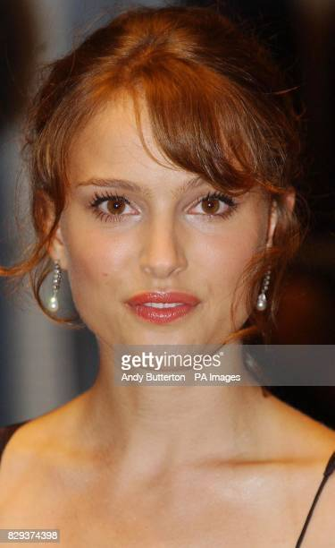 Actress Natalie Portman arrives for the screening of her latest film Garden State held at the Odeon West End cinema central London part of the London...