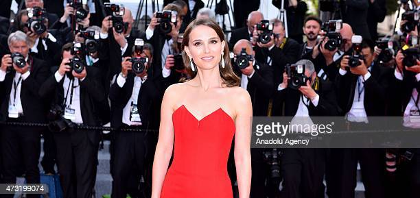 US actress Natalie Portman arrives for the screening of the film 'La Tete Haute ' and the opening ceremony of the 68th Cannes Film Festival in Cannes...