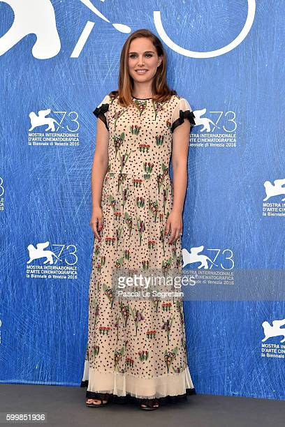 Actress Natalie Portman attends a photocall for 'Jackie' during the 73rd Venice Film Festival at Palazzo del Casino on September 7 2016 in Venice...