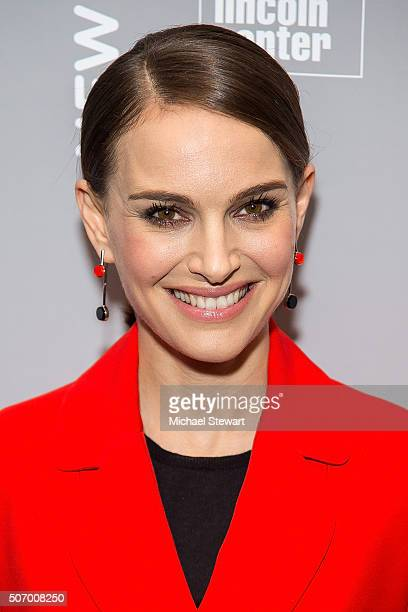 Actress Natalie Portman attends the 2016 New York Jewish Film Festival closing night screening of 'A Tale Of Love And Darkness' at Walter Reade...