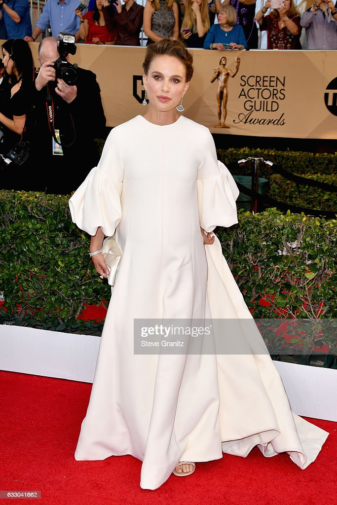 Actress Natalie Portman attends the 23rd Annual Screen Actors Guild Awards at The Shrine Expo Hall on January 29, 2017 in Los Angeles, California.